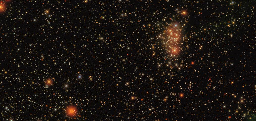 SEGUE scan -- note the open (reddened) cluster.